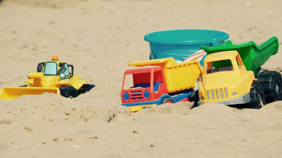 Marcatura ce giochi da spiaggia