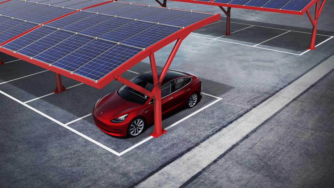 pensiline parcheggio fotovoltaico